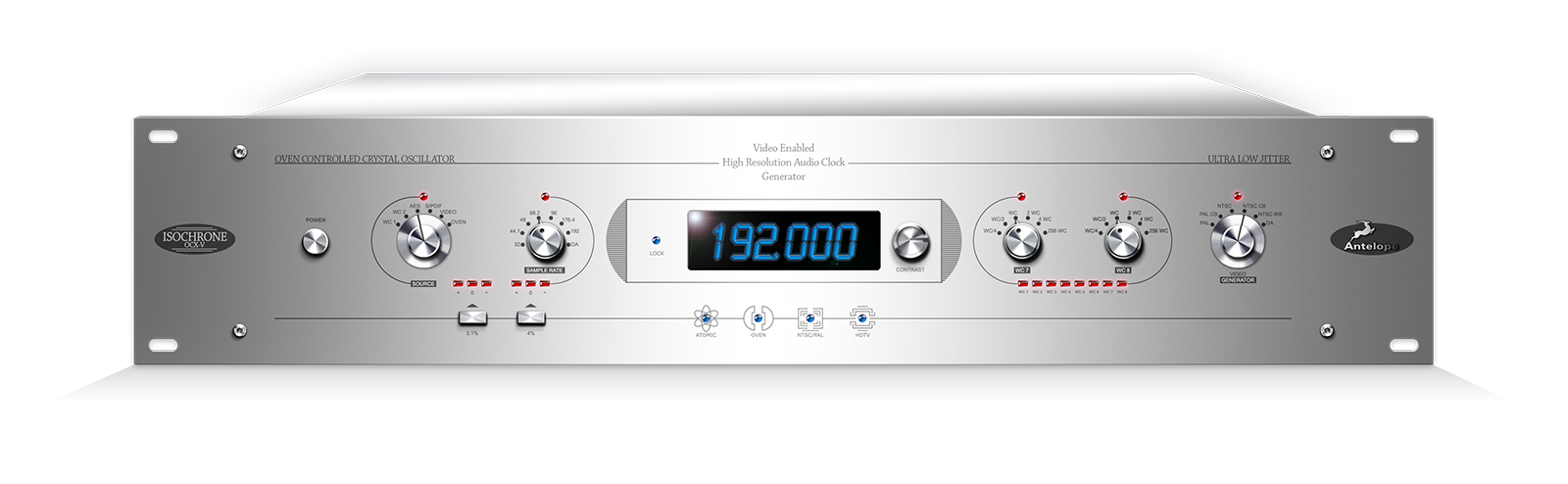 Video-enabled audio master clock compatible with most HD video formats