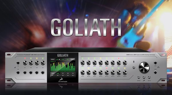 Goliath - Thunderbolt ™, USB and MADI Audio Interface