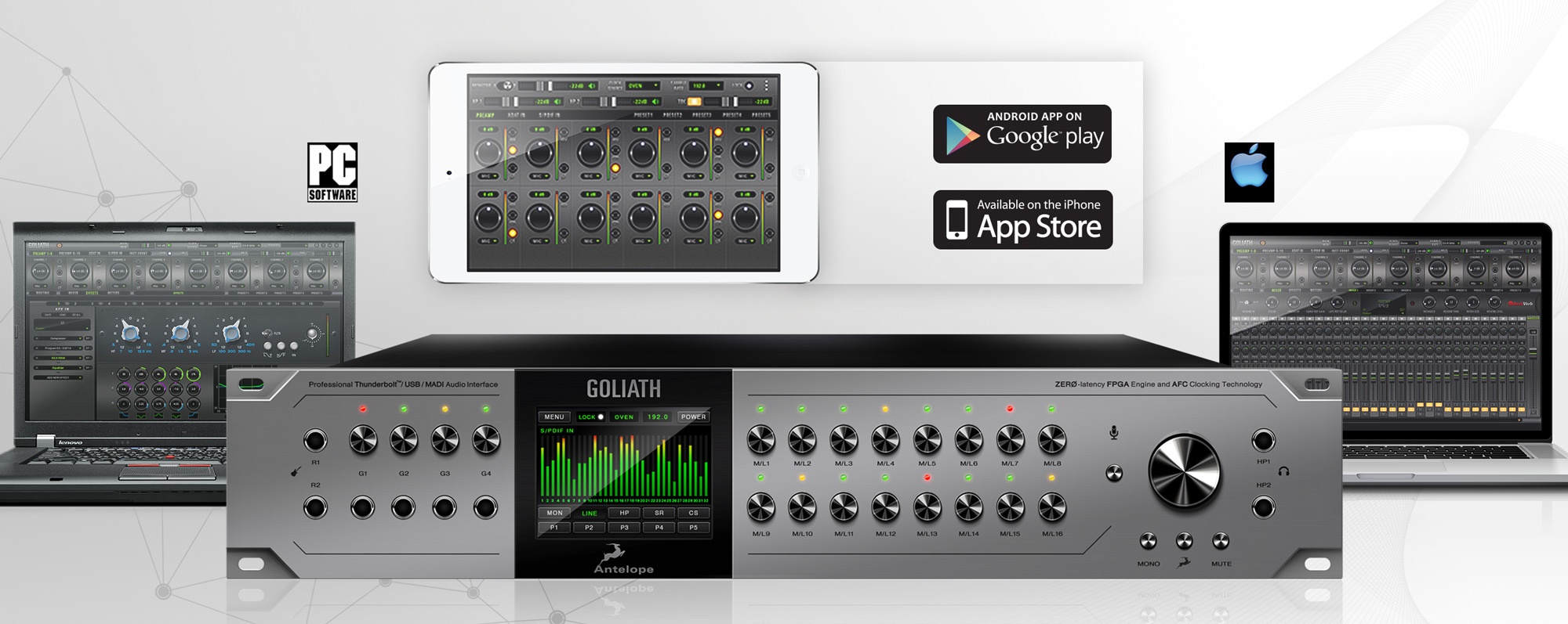 Audio Interface Goliath remotley controlled