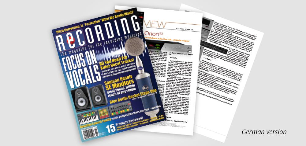 recording mag DE orion32