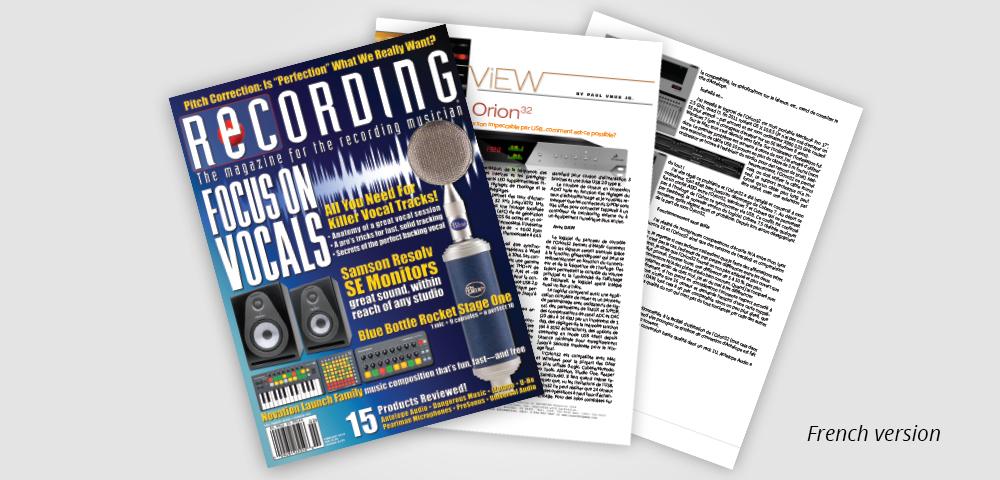 recording mag FR orion32