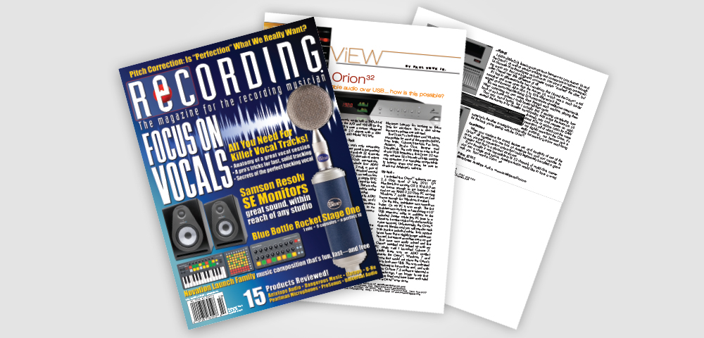 recording mag orion32