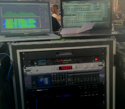 Antelope Audio's Isochrone OCX in use in a live sound environment at Coachella 2013